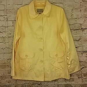 Cabela's Jacket Large Sunshine Yellow Button Front
